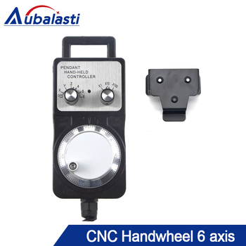 Handwheel Pulse Generator CNC Electronic Hand Wheel 6 Axis MPG MPG Diameter 6pin Pulse 100 use for CNC Router Machine