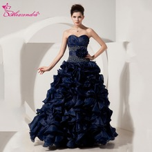 Alexzendra Navy Blue Beaded Ball Gown Quinceanera Dresses