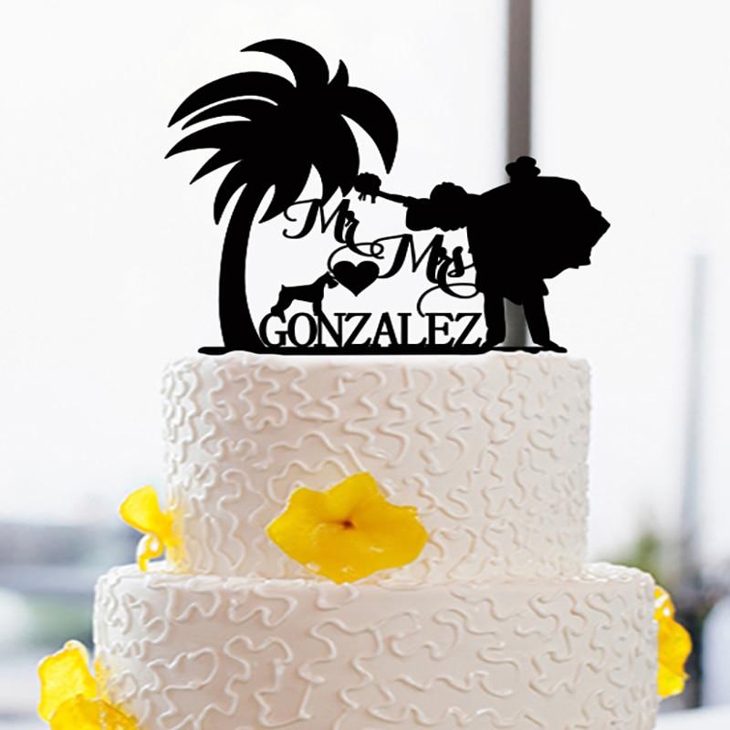 Creative Bride Groom font b Cake b font font b Topper b font For Wedding Acrylic