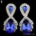Women 2014 new vintage Fashion Big Water Earrings Royal Blue Designer Inspired Earrings for women 026V
