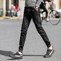 Resorte de la manera de Los Hombres Pantalones de 2017 Nuevo de la Llegada Mens Joggers Tallas grandes Slim Fit Harem Mediados de Cintura Ocasional del Hombre de Los Hombres de Los Pantalones