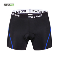 WOSAWE Cycling Underwear Men Women 3D Gel Padded Coolmax Cycling Shorts Bike Bicycle Underpants Riding Sports Maillot Ciclismo