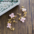 Personality Handmade Flower Bridal Hair Clips Gold Branches Wedding Hair Pins Women Hair Accessory, Free Shipping