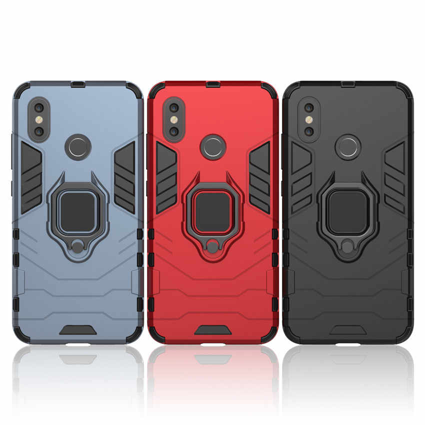 Magnetic Car Holder Ring Stand Hard Case for Xiaomi Mi 8 Se Max 3 2 Mix 2 2s 6x 5x A2 Lite 6x Redmi Note 4x 5 6 Pro Armor Cover