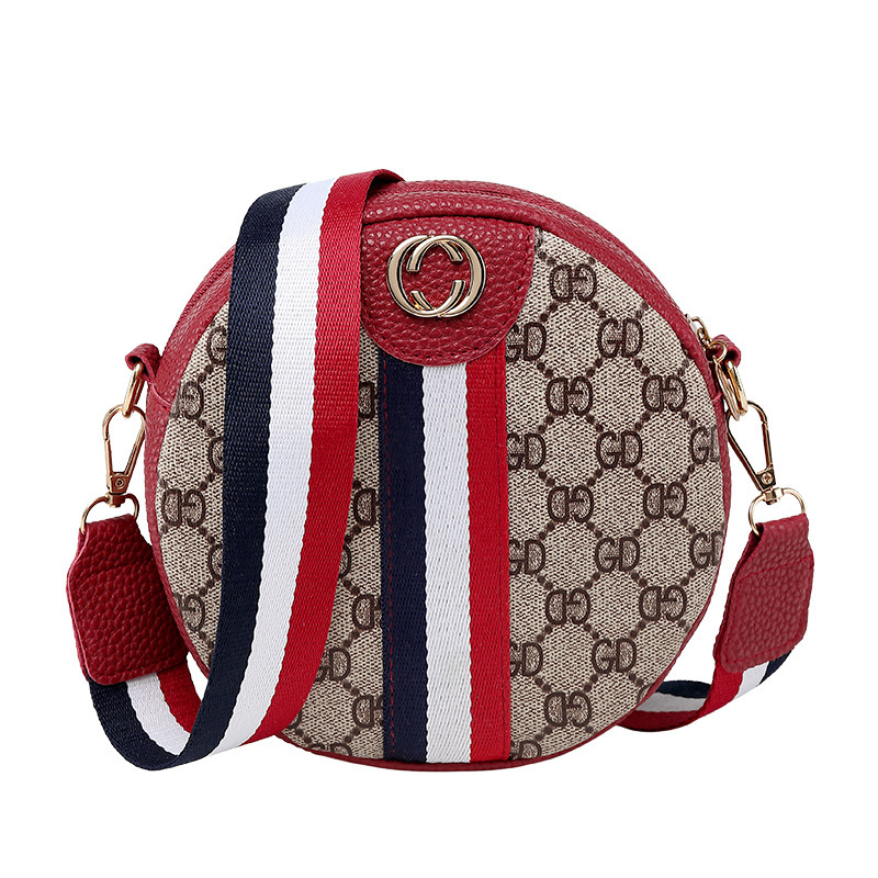 Woman Bag Circle Messenger Single-Shoulder-Bag Small Fashion Portable Bolso Package Printing
