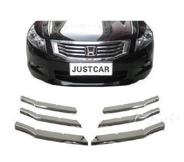 For <font><b>Honda</b></font> <font><b>Accord</b></font> <font><b>2008</b></font> 09 10 11 12 <font><b>Grill</b></font> Grille Trim Cover Trim Car Styling Chromed Car-styling image