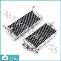Aluminium Core L R MX Offroad Motorcycle Parts Radiators Cooler Cooling For HONDA CRF450X CRF 450