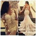 Кружева свадебное платье tumblr Русалка Свадебные Платья 2017 Свадебные Платья с длинным рукавом вечернее платье