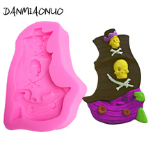 Pirate Ship Cake Silicone Mold Tools Decorating Fondant Molds For DIY Food Grade Rubber