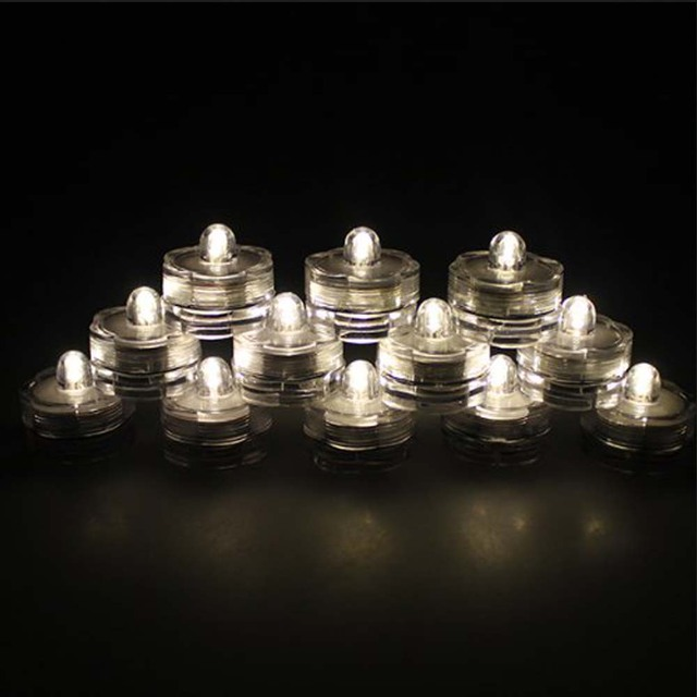 10x LED waterproof candles for wedding/evening/flower decoration tea bottles