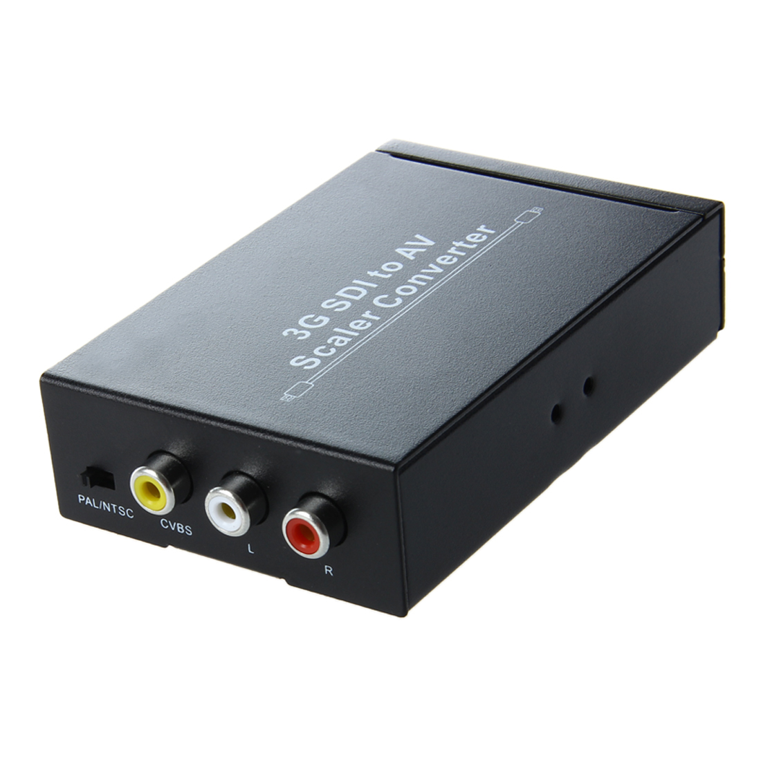 HDV-S007 Mini SD-SDI HD-SDI 3G-SDI to AV Video Converter Scaler 2.97Gbit Camera to CRT HDTV hdv s007 sdi to av scaler converter w cvbs sdi in sdi out rca black