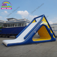 Customs Color Summer Seaside / Lake Climbing Wall Rock Climbing Holds Toys Pool Inflatable Water Park Slides