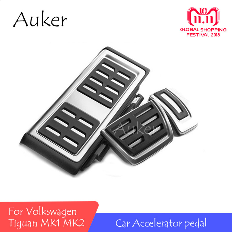 For Volkswagen VW Tiguan MK2 2017 2018 2019 AT MT Refit Accelerator Pedal Clutch Brake Foot Plate Gas Oil Treadle Car Styling