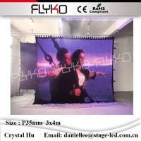 Смешные Фото светодио дный видео ткань P35mm 3x4 м