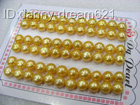 Wholesale 33pair 8mm Genuine Gold Round Freshwater Pearls Earrings N080 Top Quality Free Shipping