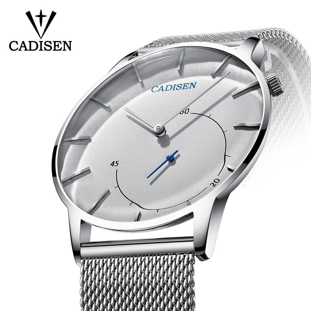 CADISEN Quartz Watch Men Brand Military WristWatches Men Full Steel Famous Business Men Watch Clock Waterproof Relogio Masculino