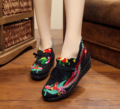 2016 Новый дизайн женщин синглов старого Пекина народном стиле вышитые Феникс танец обувь для ходьбы Размер 35-40