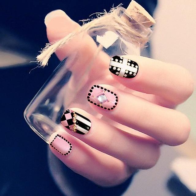 2016 new Nail art products Fake nails patch Fashion technology nail ...