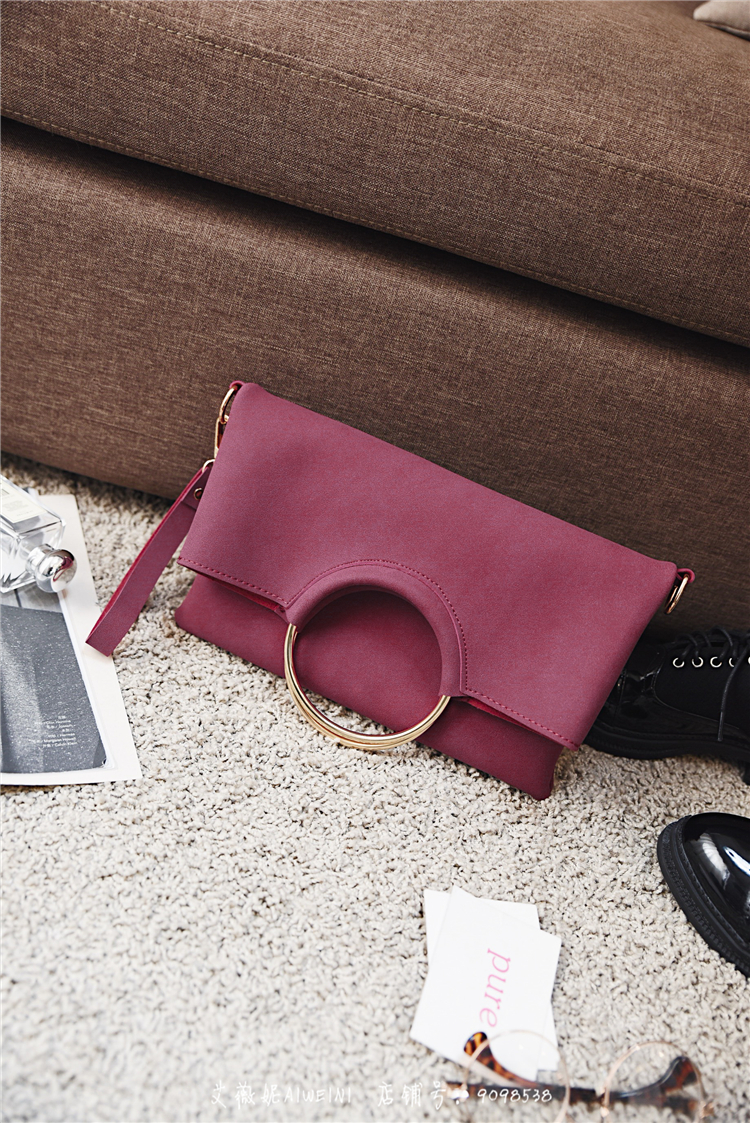 Casual Women Tote Bag 2 Pcs Set Folding Envelope Clutches Faux Suede Shoulder Bag Lady Hand Bag Black Red Shopper Handbag Purses 9