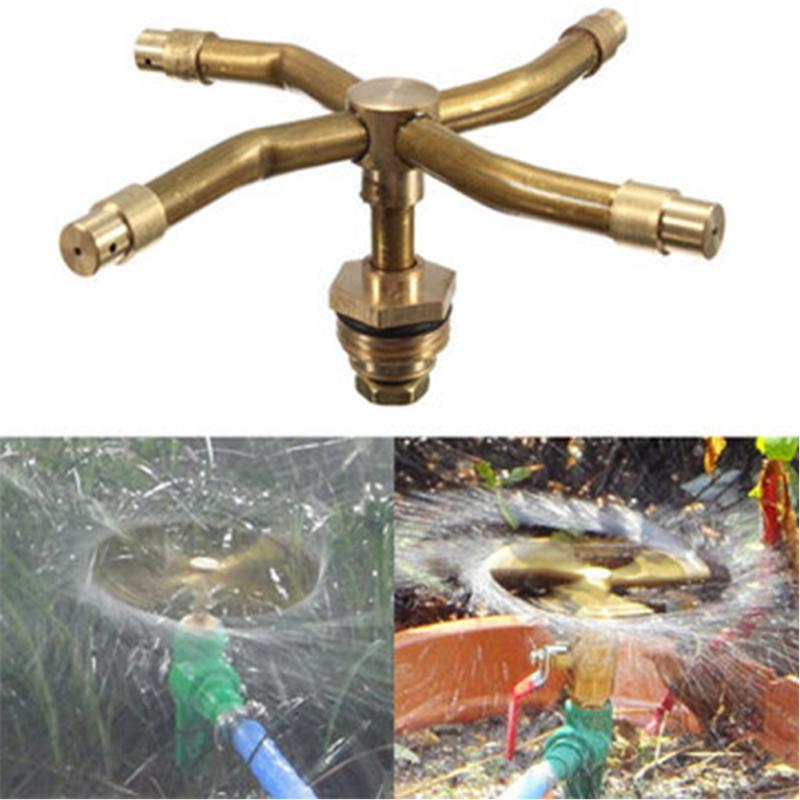 New 4 Ways 12 Brass Misting Garden Lawn Sprinkler Irrigation Fountain Nozzle 360 Degree Rotary Spray Head