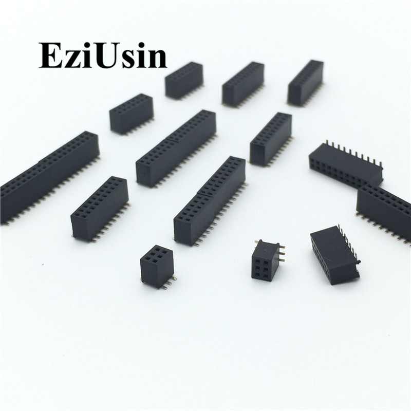 SMT 2.54mm Double Row Female Breakaway PCB Board Pin Header Socket Connector Pinheader 2 * 2/3/4/6/10/12/16/20/40Pin For Arduino