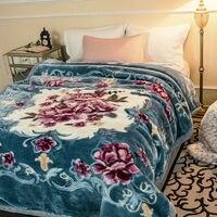 Роскошные Качество двойной слои шерстяное одеяло 8.8lbs queen размеры пушистый Коренастый теплый пледы супер мягкий на весну и зиму кровать одея