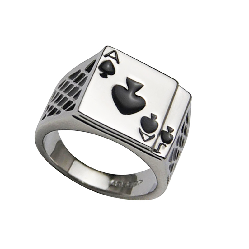 US $1 98 46% OFF|Fashion Stainless Steel ring Ace of Spades Poker Rings  Casino Poker Card Game Ring Men Women Jewelry Wholesale-in Rings from  Jewelry