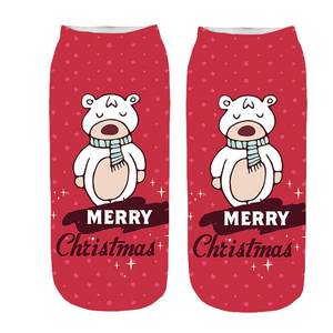 Women Socks  3D Cartoon Polyester  Sock Funny Christmas Crazy Cute Print   Socks 18NOV1