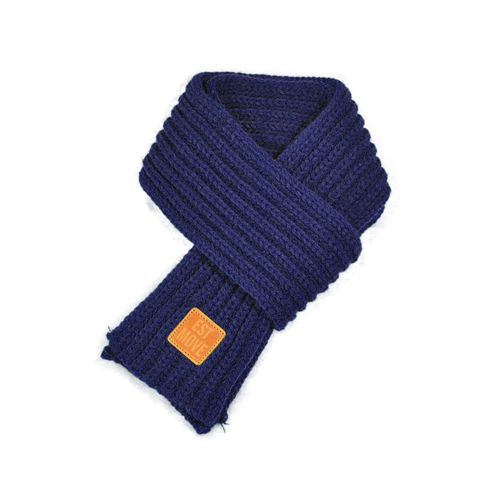 Fashion Children Knitted Scarf Solid Color Thicken Winter Keep Warm  Girls Neck Scarves FS99