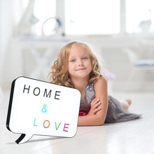 new style cinema lightbox with Handwriting function sign what you need leave the message for yourself best gift of home decor