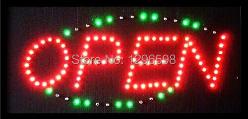2017 Led shop open neon sign direct selling custom led sign 10X19 inch indoor graphics Ultra Bright flashing store open signage