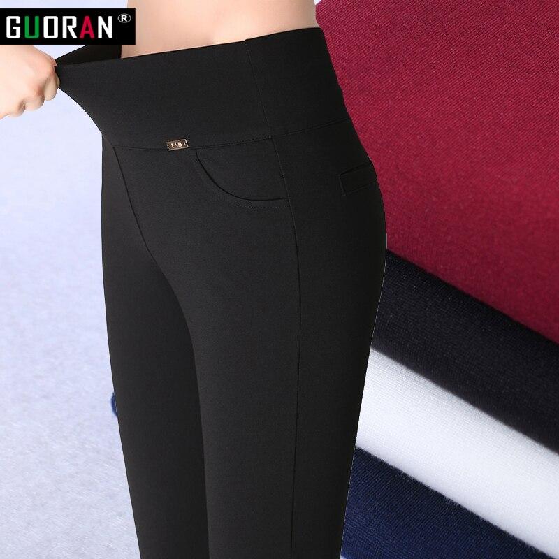 Weibliche übergroße Hosen für das Arbeitsbüro Herbst Winter plus - Damenbekleidung - Foto 2