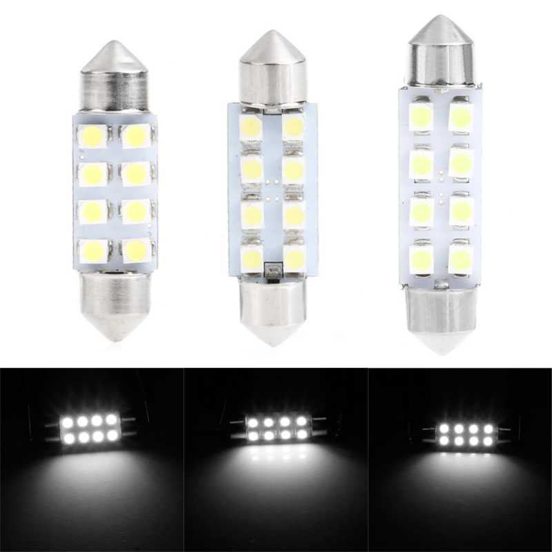 1 Pc 41mm lumière LED 1210 8 SMD dôme de voiture Double-pointe lampe de lecture ampoule de toit