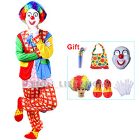 Halloween Costumes Adult Funny Circus Clown Costume Naughty Harlequin Uniform Fancy Cosplay Clothing For Men Women