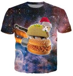 Harajuku women men 3d galaxy print t shirt space christmas hamburger taco cat printed tshirts t.jpg 250x250