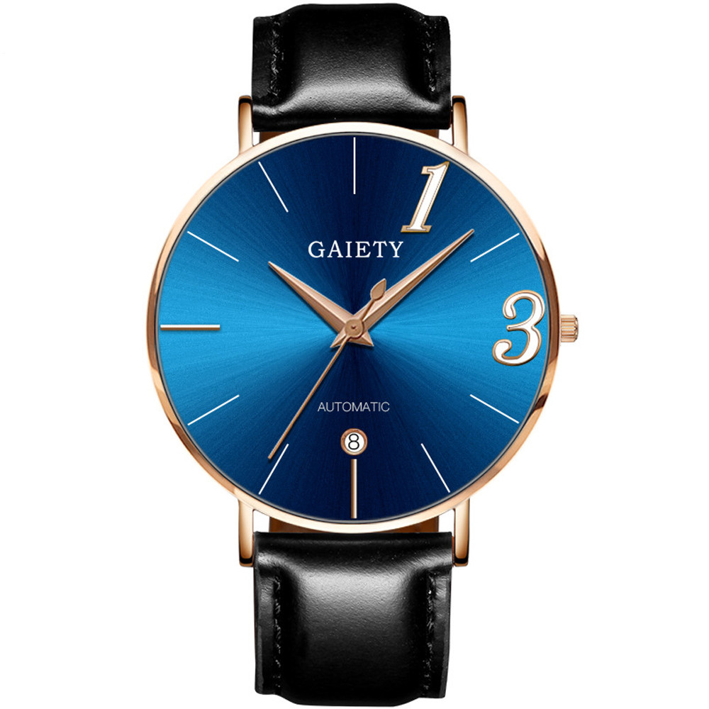 Luxury Lover's Watches Fashionable New Couple Watch Leather Strap Line Analog Quartz Ladies WristWatches Gift Montre Homme A70