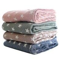 Muslin Cotton Baby Blankets Swaddles Newborn Wrap Stars Gauze Children Cover Quilt Infant Kids Playing Blanket Size 150*200cm