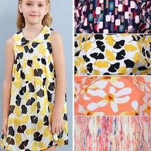 Bedsheet Fabric Rayon Viscose-Print Dress Poplin Children Cloth Cotton Cooling Pajamas