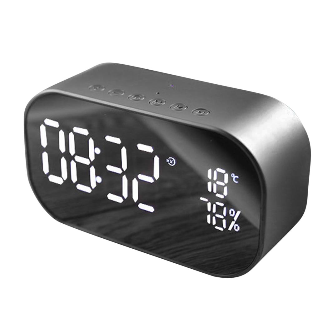 Bluetooth Portable Speaker Support Alarm Clock Temperature Car Sub woofer Stereo Sound LCD Display Radio Audio Computer Speaker