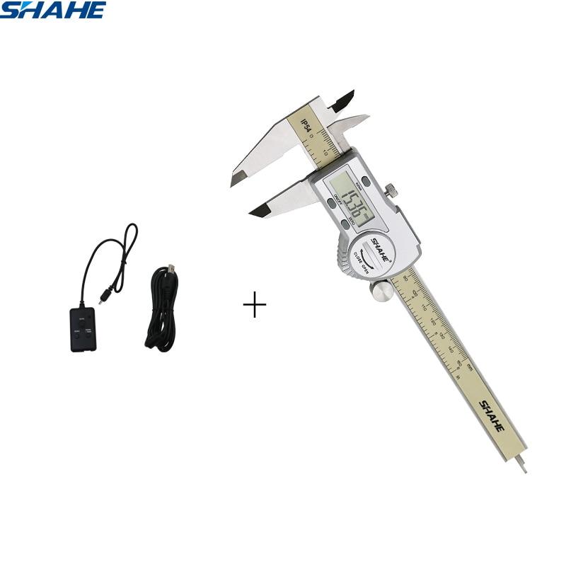 shahe caliper set IP54 Waterproof Digital Vernier Caliper with USB type date cable line caliper vernier