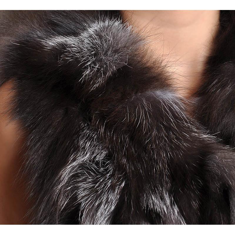Fourrure Nouveau Conception Fox Silver Collection Court Photo Naturel Réel Gilets Cou Hiver Automne De As 2018 V Femmes Color qECnnP5x