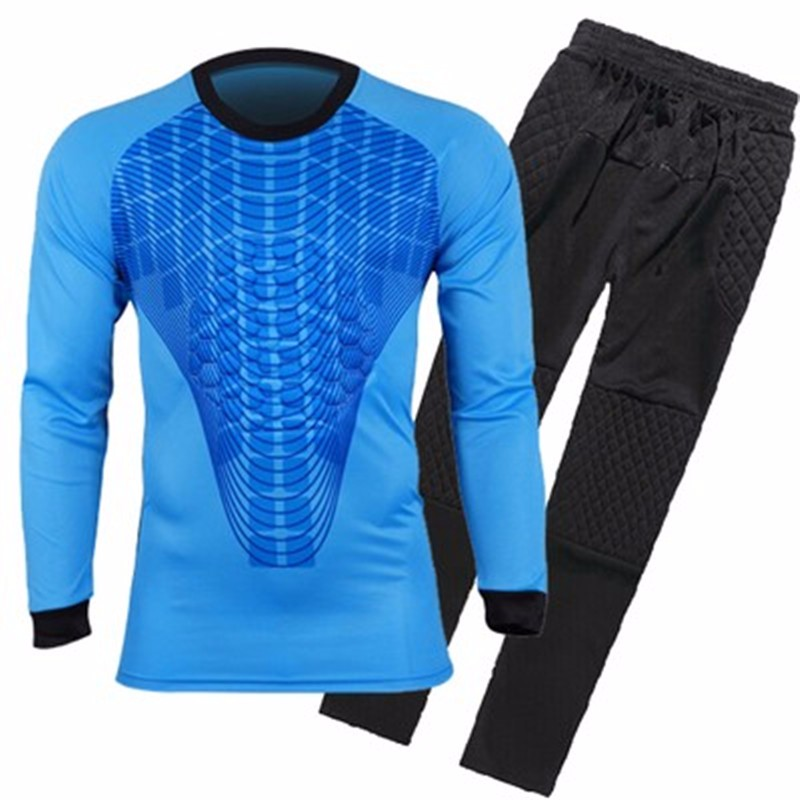 Mens Football Goalkeeper Jersey maillot de foot 2016 2017 Goalie Sponge Protector Suit Camisetas De Futbol Goal Keeper Uniforms