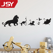 Jiangs Yu 1 PC Cartoon Lion King Simba Wall Decals Car Window Vinyl Decal Sticker Art Decor Removable