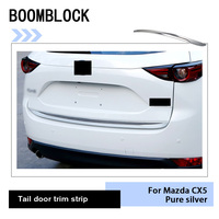 Auto Tailgate Stainless Steel Exterior Decorative Strip Sticker For Mazda CX 5 CX5 CX 5 2017 2018 KF Car Styling Accessories