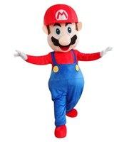 Талисман взрослых костюм супер Марио талисмана Высокое качество Супер Марио талисмана Необычные карнавал Вечерние