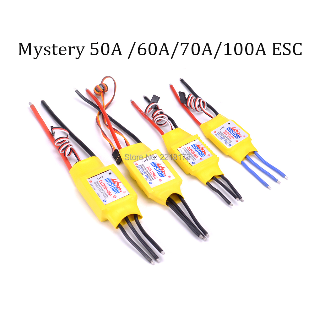 1pcs Mystery 50A 60A 70A 100A Brushless ESC RC Speed Controller Motor for RC Airplane Helicopter ypg 60a esc brushless speed controller 2 6s sbec for rc helicopter airplane