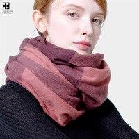 100% Lamb Wool Scarf Women Plaid Pink Grey Scarves Female Rings Collars Shawls Wraps 200*50cm