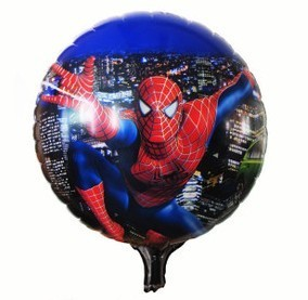 "PT0059 Spider Man Balloons, Boy's Child HAPPY BIRTHDAY Balloon, Party Balloon, 17"" Inch, 10pcs/lot, free shipping"