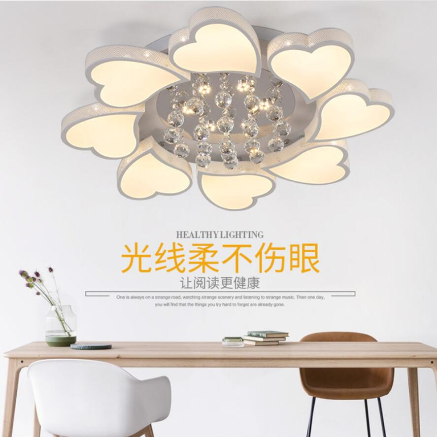 Lights & Lighting Knowledgeable New Heart-shaped Led Crystal Chandelier Led Lamps Romantic Acrylic Chandeliers High Power Bright Led Lustre Light Pendant Z15 Chills And Pains