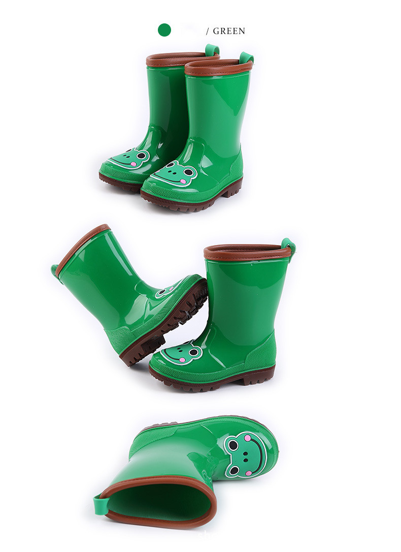 9.Rain Boots Kids for Boys Girls Rain Boots Waterproof Baby Non-slip Rubber Water Shoes Children four Seasons Rainboots